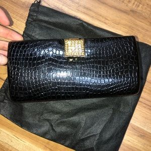 Isabella Adams New York Clutch Bag Black